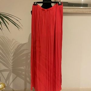 Zara Trafaluc Collection Coral long Skirt size L
